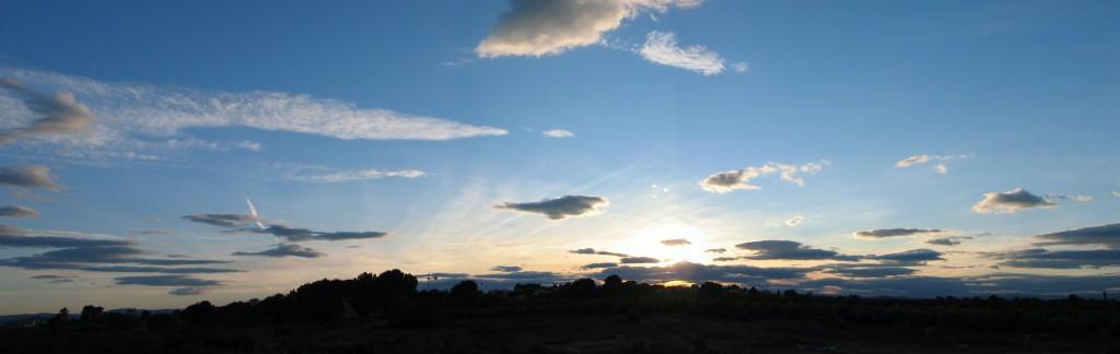 Posta de sol a la Conarda al març del 2008.
