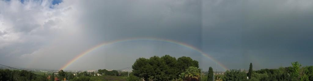A la Conarda, després d'una tempesta al maig del 2007.