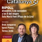Aquest divendres, acte inici de campanya al Ripollès. Teresa Jordà i Oriol Junqueras