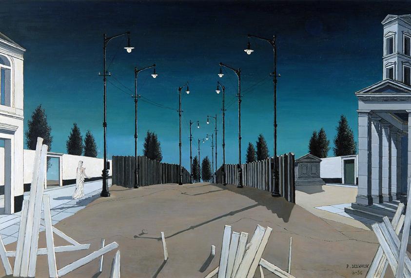 La Ville lunaire n.2 (1956, Huile sur panneau (adj)