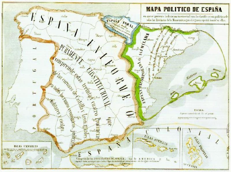 Mapa de Catalunya i Espanya
