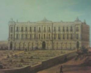 Edifici Xifré, on es veuen les set estàtues