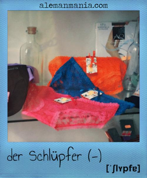 Der Schlüpfer, les calces en alemany