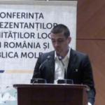 George Simion, president de la plataforma unionista Acció 2012, durant la seva intervenció a la Conferència aquest matí. Foto extreta de: http://ziarulnational.md/live-sute-de-primari-din-r-moldova-au-trecut-prutul-ce-le-a-cerut-dorin-chirtoaca-primarilor-din-romania/