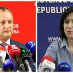 Fotomuntatge amb què Realitatea ha volgut reflectir qui són els dos candidats amb més opcions de guanyar les presidencials de l'octubre a la República Moldava. Font: http://media.realitatea.md/image/201605/620x/media_146235469602758700.jpg