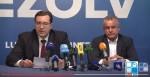 Captura de pantalla del vídeo de Publika TV amb la conferència de premsa. A l'esquerra de la imatge, Marian Lupu; a la dreta, Vladimir Plahotniuc.