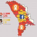 Mapa publicat al compte de Facebook d'Artur Gurau, de l'equip de Maia Sandu.
