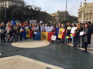 """La concentració """"Vot furat"""" a la plaça de Catalunya de Barcelona."""