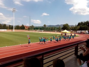 Desfilada dels nostres esportistes de l'escola.