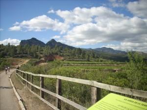 La Via Verda de la Terra Alta té uns paisatges fantàstics