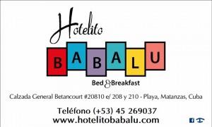 tarjeta Hotelito Babalu