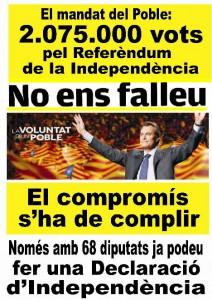 """Mas i Junqueras han de complir: """"En política les paraules són compromisos ..."""" BIC 2347"""