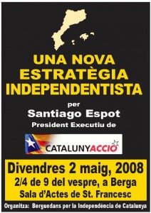 EA 930. Santiago Espot, demà serà a Berga. L'home que vol i fa la Catalunya Independent ja!