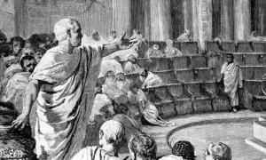 Cicero addressing the Roman Senate