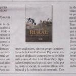 """""""Rural. Crónica de un conflicto"""" de Etienne Davodeau (La Cúpula) a Le Monde Diplomatique"""