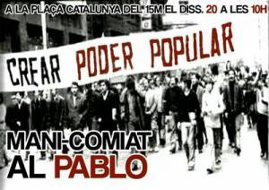 Cartell manifestació pel comiat del Pablo