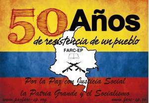 Mural de les FARC-EP a zona alliberada