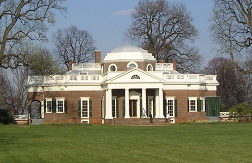 Monticello, la casa de Thomas Jefferson CC BY-SA 3.0, https://commons.wikimedia.org/w/index.php?curid=604950