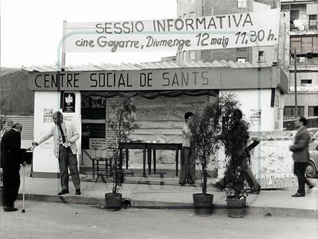 Parades i actes per informar els veïns, després del 1975, moblització d'ahir com ara