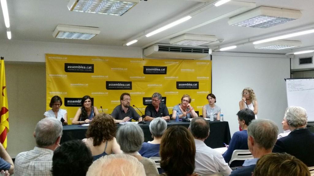 Assemblea oberta a Marina dels secretaris en representació de la ciutat de Barcelona, el 8 de juny de 2016