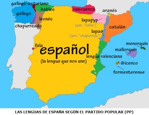 Llengues d'Espanya segons el Partit Popular. 16-5-2013