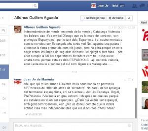 Amenaces de Valencia Espanyolista a Valencia Catalanista (11-10-2014)-B