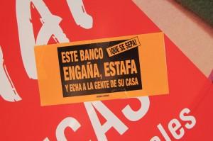 Banc Estafa (04) Protesta. Banc Santander. Pl.Rosanes. Sueca.12-4-2013