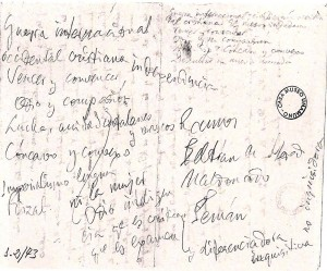 Unamuno. Manuscrit (Paraninf Universitat Salamanca. 12-10-1936)