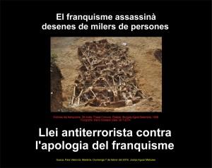 Victimes Franquisme. CARTELL. Llei contra Apologia. 7-2-2016 -JPG (CAT) -REDUIT