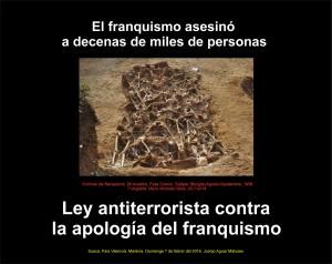 Victimes Franquisme. CARTELL. Llei contra Apologia. 7-2-2016 -JPG (ESP) -REDUIT