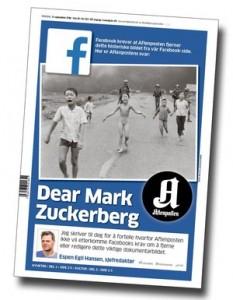 Censura i Llibertat en Facebook. Diari AFTENPOSTEN. Noruega. 9-9-2016