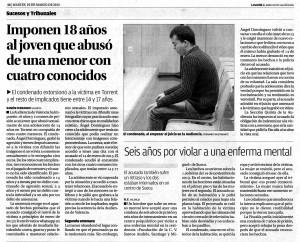 Seis años por violar a una enferma mental en la Fundación SASM de Sueca, dirigida por Amparo Menargues Hernández.