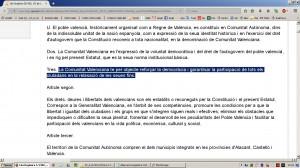 Aberracio Linguistica. Estatut Valencia 1982. Web Generalitat (18-12-2016)-04