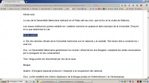 Aberracio Linguistica. Estatut Valencia 1982. Web Generalitat (18-12-2016)-05