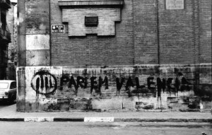 Pintada Quatribarrada. PARLEM VALENCIA. 23-12-2016 (Facebook-En Defensa del Valencia)