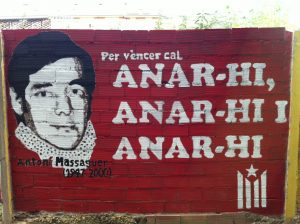 Mural en memòria d'Antoní Massaguer a Berga